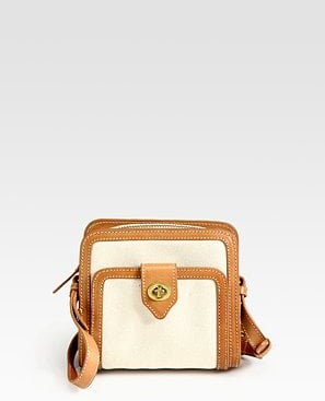 Steven Alan Francoise Small Canvas & Leather Shoulder Bag ($395)