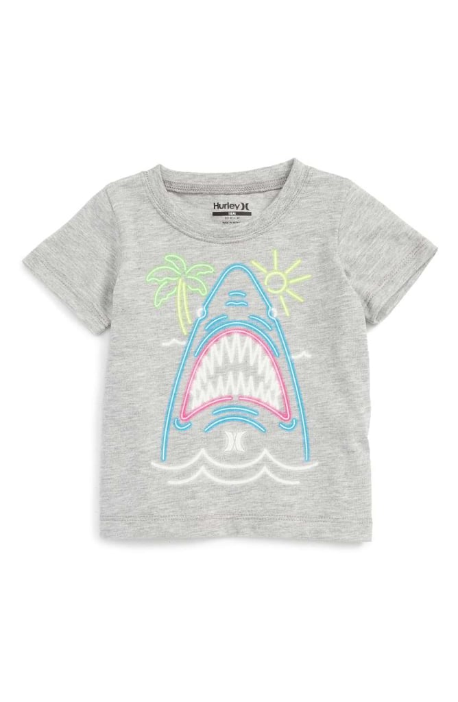 Neon Shark Graphic T-Shirt