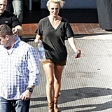 Britney Spears carried a large water.