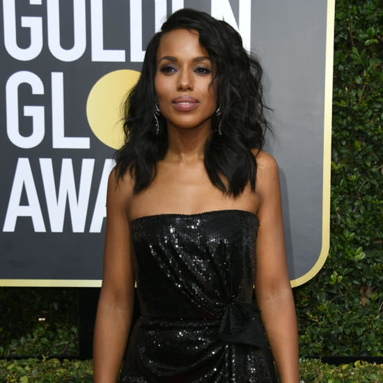 Kerry Washington and Nnamdi Asomugha at 2018 Golden Globes