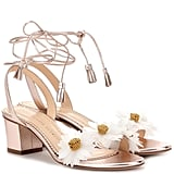 Charlotte Olympia Tara Embellished Metallic Leather Sandals (£595)