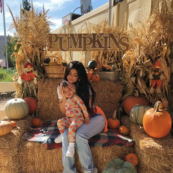 Kylie Jenner and Stormi at a Pumpkin Patch Photos