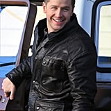 Josh Dallas's smile provided plenty of charm on the set of Once Upon a Time in Steveston, Canada, on Tuesday.