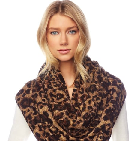 The ultimate statement-maker, just pair this Michael Kors Leopard-Print Infinity Scarf ($65) with a black turtleneck and you're all set.