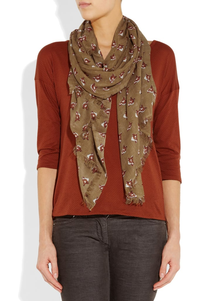 Back-to-school staple: Aubin & Wills Denton Fox-Print Woven Scarf ($85) Why it shouldn't be overlooked: The easiest way to put an extra layer of warmth into your outfit mix is by adding a scarf. We love that the fox print is quirky enough to make a statement but charming enough to be worn with a chunky topper or a tee-and-blazer combo.