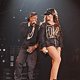 Jay Z and Beyoncé hit the stage together during her Brooklyn show in New York in August 2013. Source: Tumblr user Beyoncé