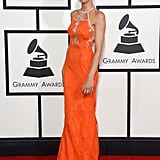 Giuliana Rancic wore an Alex Perry dress for her red carpet duties at the 2014 Grammy Awards.