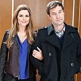 Guest star Maria Menounos with Brendan (Mark Duplass).