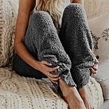 MarcoJudy Cosy Fuzzy Fleece Pajama Pants