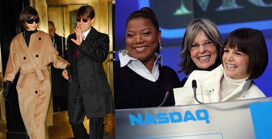 Katie Holmes, Queen Latifah, and Diane Keaton at NASDAQ