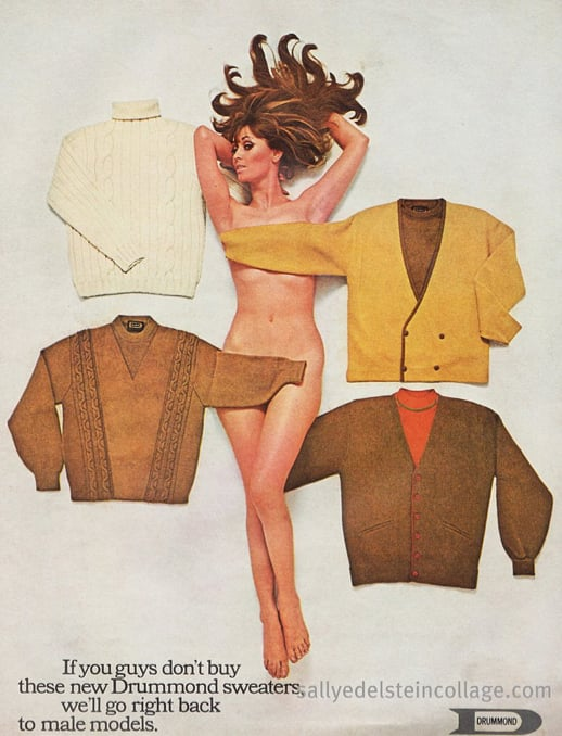 Just another naked lady selling grandpa sweaters.