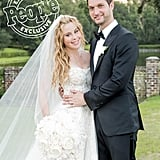 For the Wedding, Tara Wore a Reem Acra Gown Featuring a 20-Foot Tulle Skirt Designed by Laura Basci