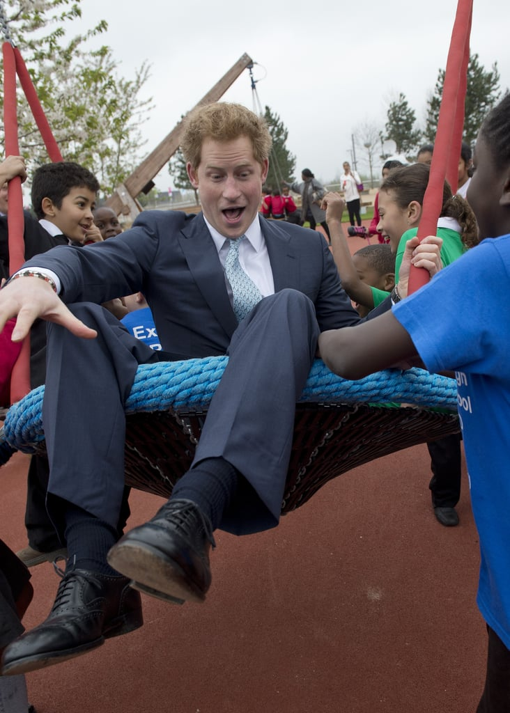 The prince appeared to have an absolute ball as he played with a group of children in Newham during a visit to Queen Elizabeth Olympic Park in April 2014.