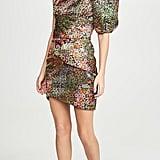 IORANE Multicolor Floral One-Shoulder Mini Dress