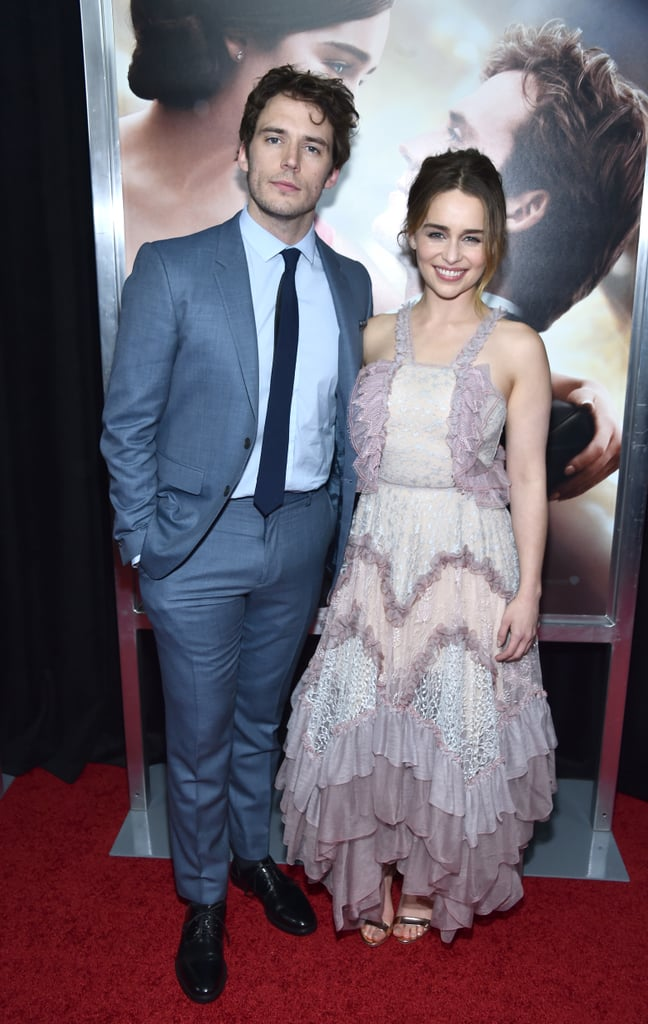There's something about the chemistry between Emilia Clarke and Sam Claflin that is just so mesmerizing. On Monday, the two costars showed off their playful sides when they attended the premiere of their film, Me Before You, in NYC. Emilia — who glowed in a ruffled lilac dress — shared a few laughs with Sam as they posed for photographers and met up with the rest of the movie's cast. In the film adaptation of JoJo Moyes's bestselling novel, the Game of Thrones actress plays a working-class woman named Louisa Clark opposite Sam, who plays the quadriplegic William Traynor. If you haven't already read the book, here's everything you need to know about it before it hits theaters on June 3.