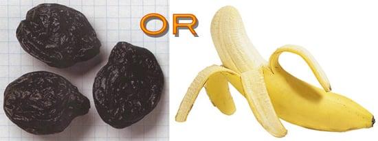 Fiber Quiz:  3 Prunes or a Banana?