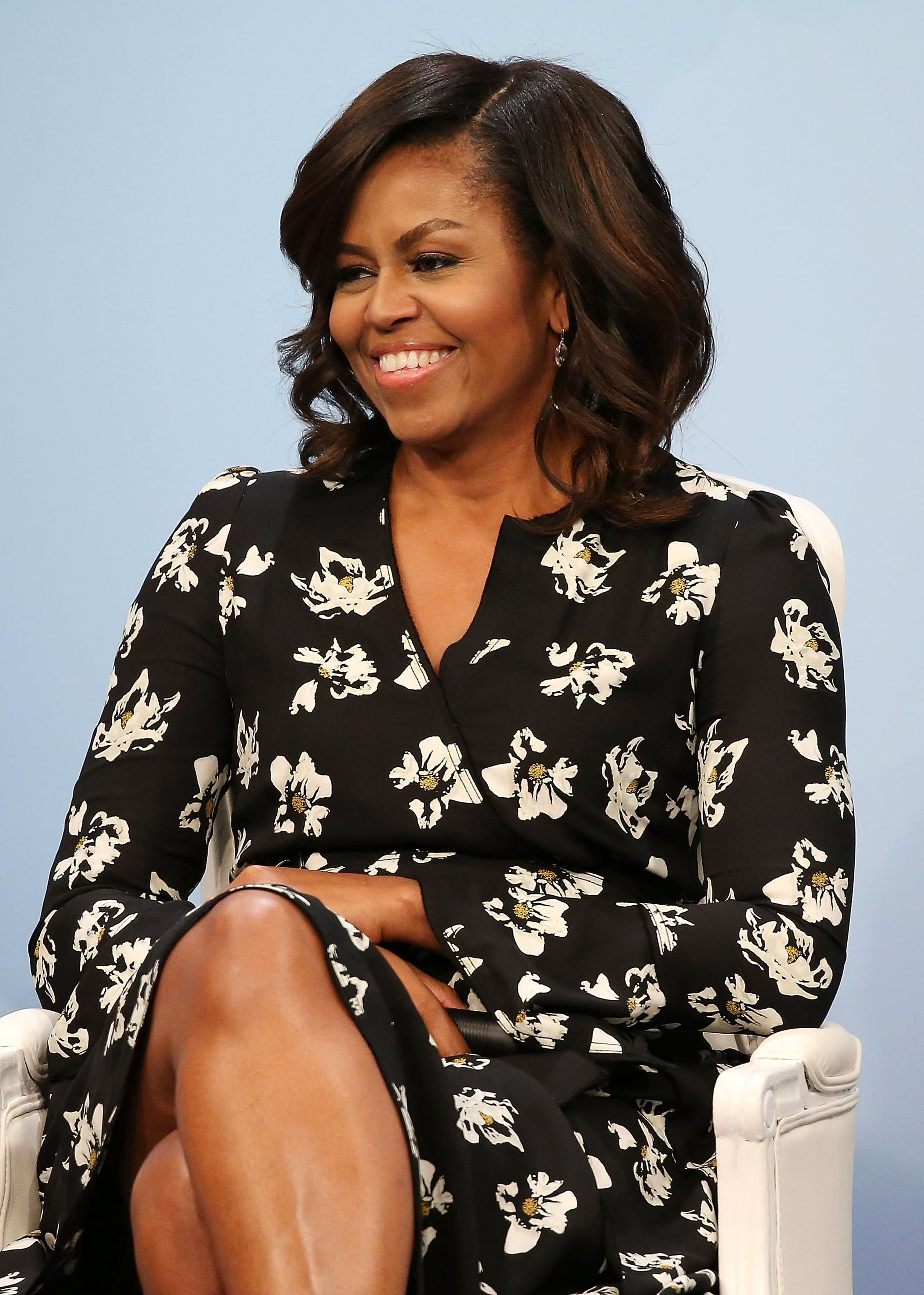 WASHINGTON, DC - OCTOBER 11:  First Lady of the United States Michelle Obama participates in a panel discussion at Glamour Hosts
