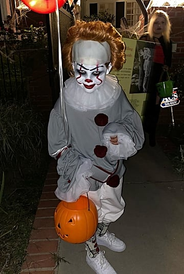 Wiz Khalifa's 6-Year Old Kid in Pennywise Halloween Costume