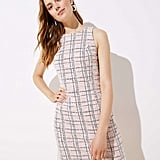 Loft Striped Boucle Shift Dress