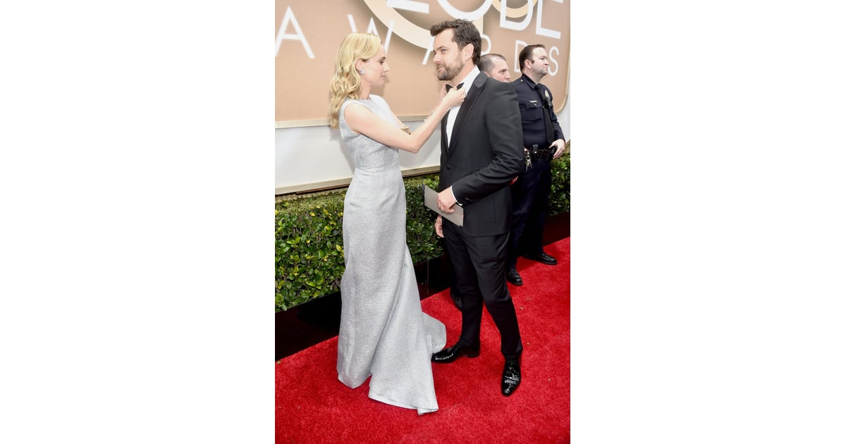 Diane Kruger helped Joshua Jackson with his bow tie. | The ...