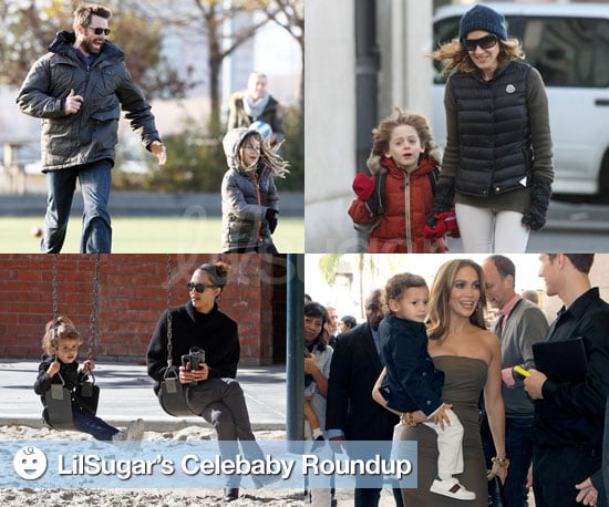 Pictures of Hugh Jackman, Sarah Jessica Parker, Jessica Alba, and More With Their Children