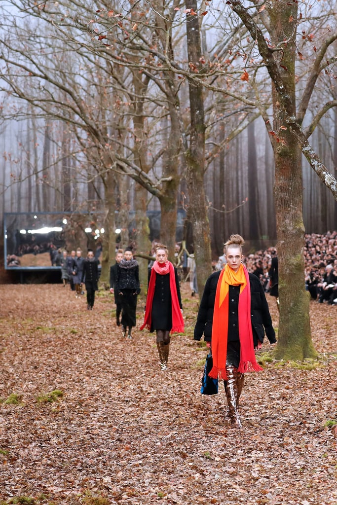 It Seems Like Long, Bright Scarves Are the Latest Chanel Accessory Trend