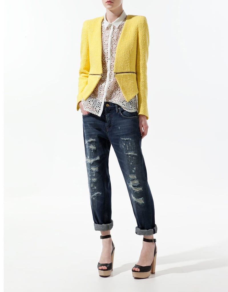 Zara Must-Have Item: Blazer With Zip at the Waist ($129)