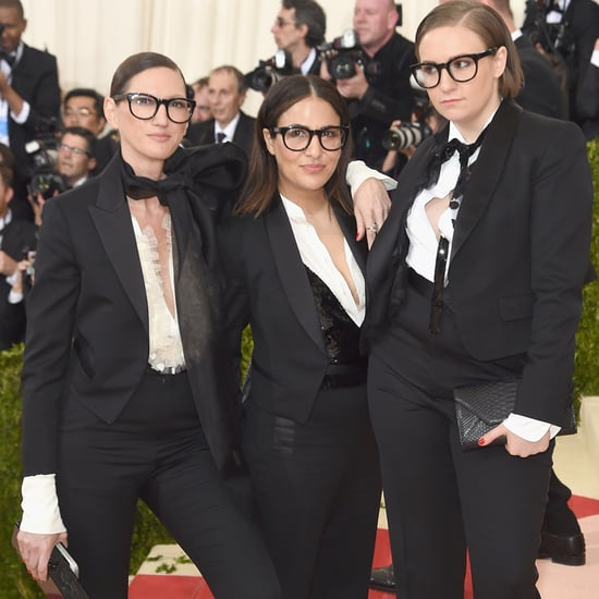Lena Dunham and Jenna Lyons at Met Gala 2016