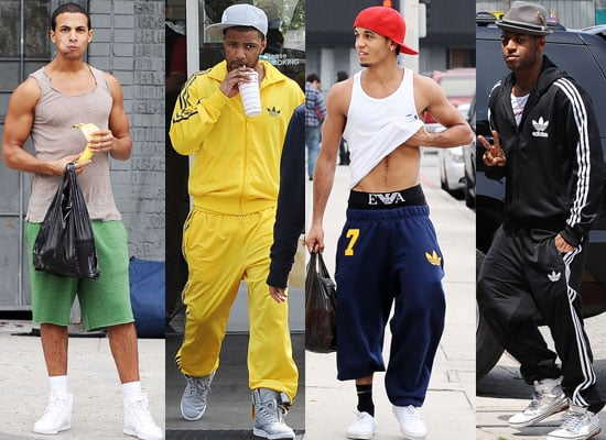 Photos of JLS — Marvin Humes, Oritse Williams, JB Gill, Aston Merrygold — Out in LA Eating Burgers and Bananas