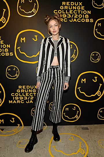 Gigi Hadid Space Buns at 2018 Marc Jacobs Party