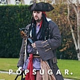 Joel Madden dressed as Captain Jack Sparrow.