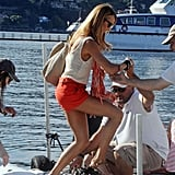 Stacy Keibler enjoyed a day in Lake Como.