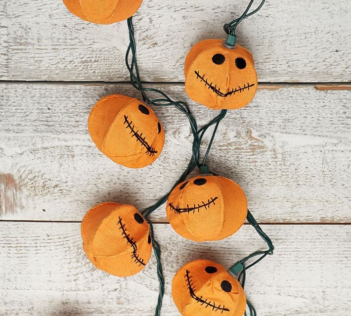 Jack O Lantern Burlap String Lights It S No Surprise That Pottery Barn Has The Chicest Halloween Decorations Around Popsugar Home Photo 12