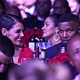 Jamie Foxx and Katie Holmes at Clive Davis Pre-Grammy Party