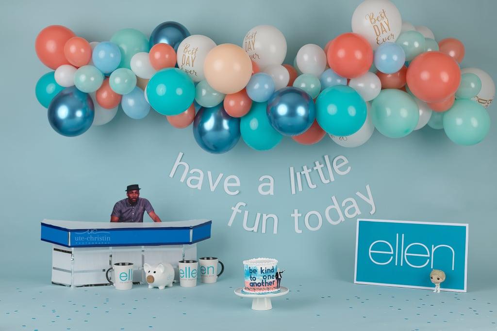 Ellen DeGeneres Cake Smash Photo Shoot