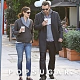 Jennifer Garner and Ben Affleck left their local Starbucks.