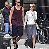 Toni Garrn and Chandler Parsons Kissing in NYC