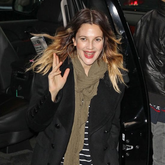 Drew Barrymore Wearing Engagement Ring on GMA