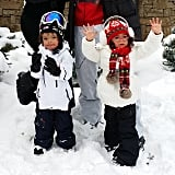 Nick Cannon and Mariah Carey's little ones were all bundled up on Christmas Eve. Source: Instagram user nickcannon