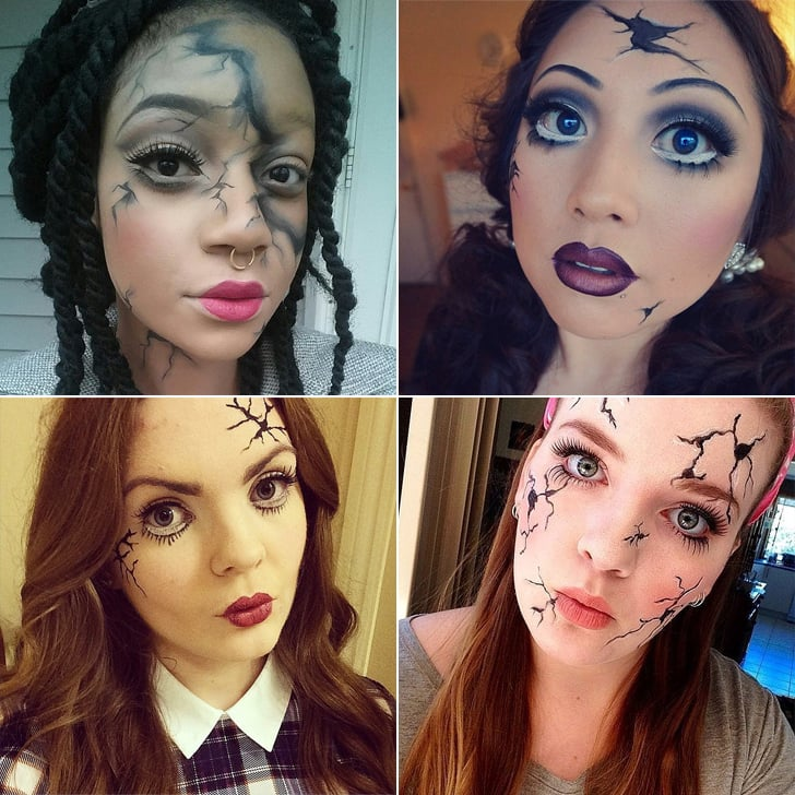 Cracked-Doll Makeup