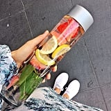 This week we were sipping on fruit-infused detox water.
