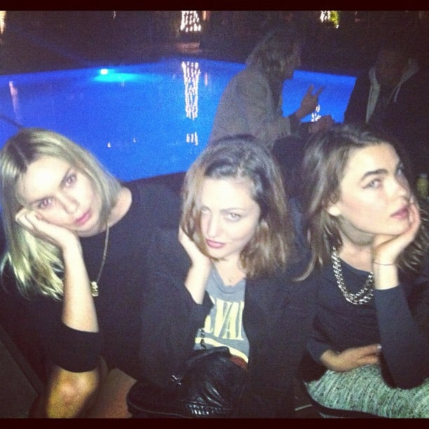 Alexandra Spencer, Phoebe Tonkin and Bambi made a stunning trio when they had a night out together. Source: Instagram user phoebejtonkin