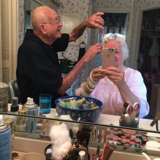 Grandpa Helping Grandma Do Her Hair
