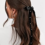 Barrettes: ASOS Design Bow Hair Clip With Pearls