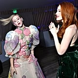 Lili Reinhart and Madelaine Petsch at the Vanity Fair Oscars Party