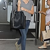Miranda Kerr stepped out of her hotel in NYC today.