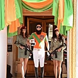 The Dictator's Sacha Baron Cohen made quite the entrance at the Cannes Film Festival.
