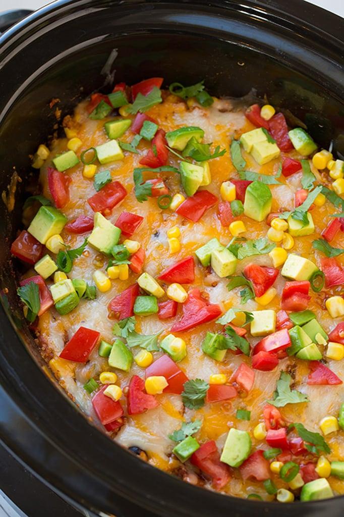 Recipe for a Crowd: Slow-Cooker Enchilada Quinoa Bake