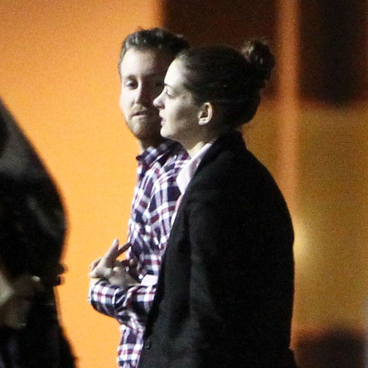 Anne Hathaway and Adam Shulman out to dinner.