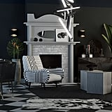 Beetlejuice-Inspired Eclectic-Style Living Room